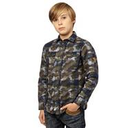 Boy's multi camo shacket