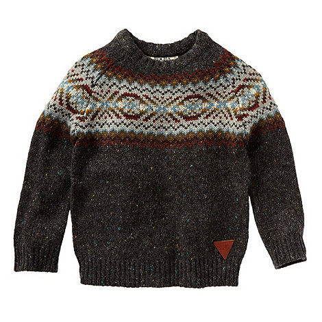 RJR.John Rocha - Boy+s multi fairisle crew neck sweater