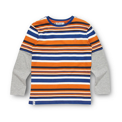 RJR.John Rocha - Designer boy+s orange striped top