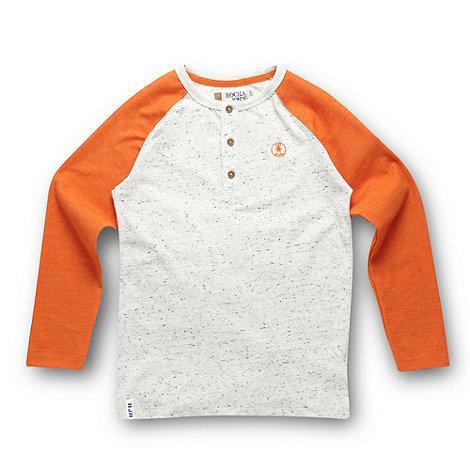 RJR.John Rocha - Designer orange button up t-shirt