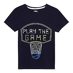bluezoo - Boys' navy 'Play the game' print t-shirt