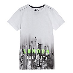 bluezoo - Boys' white city print t-shirt