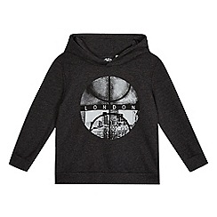 bluezoo - Boys' grey London print hoodie