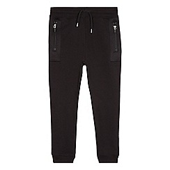 bluezoo - Boys' black mesh panel jogging bottoms