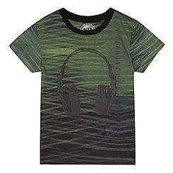 bluezoo - Boys' khaki headphone print t-shirt