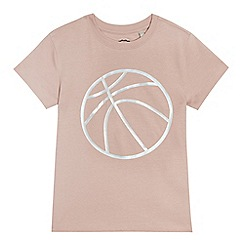 bluezoo - Boys' pink basketball print t-shirt