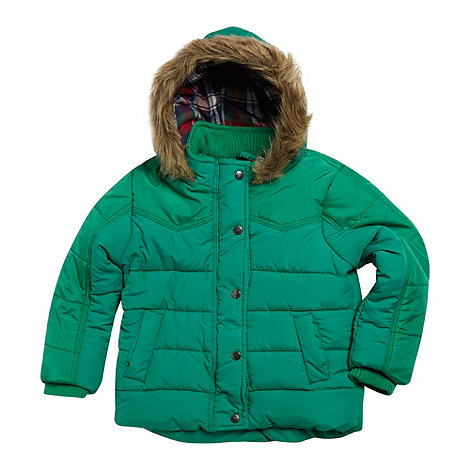 Mantaray - Boy's green padded hooded gilet
