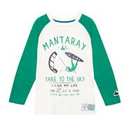 Boy's green graphic slub t-shirt