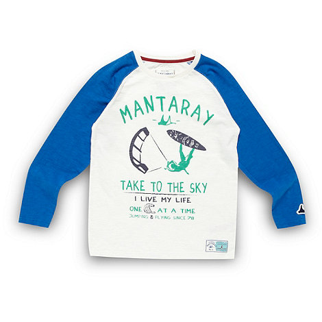 Mantaray - Boy+s blue +Take To The Sky+ top
