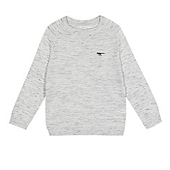 bluezoo - Boys' grey space dye sweater
