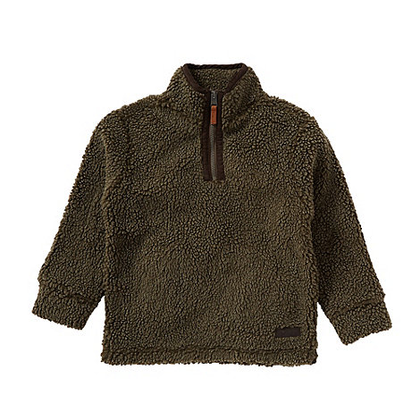 Mantaray - Boy+s khaki half zip fleece