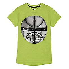 bluezoo - Boys' lime 'London' print t-shirt