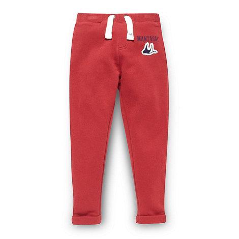 Mantaray - Boy+s red skinny fit jogging bottoms