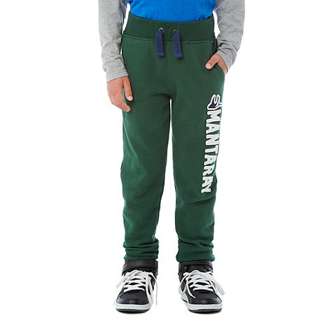 Mantaray - Boy+s green cuffed joggers