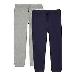 bluezoo - Pack of two boys' grey and navy jogging bottoms