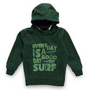 Boy's green graphic 'surf' hoodie