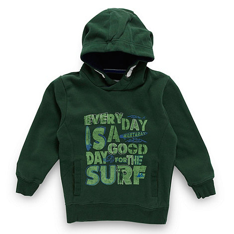 Mantaray - Boy+s green graphic +surf+ hoodie