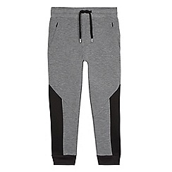 bluezoo - Boys' grey textured panel jogging bottoms