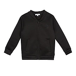 bluezoo - Boys' black textured bomber jacket
