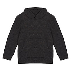 bluezoo - Boys' grey embossed hoodie