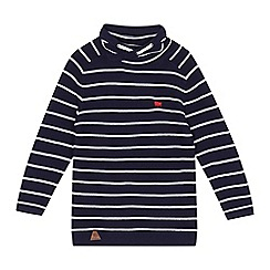 J by Jasper Conran - Boys' navy striped knitted cowl top