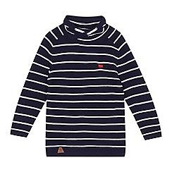 J by Jasper Conran - Boys' navy striped knitted cowl top
