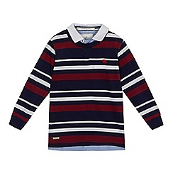 J by Jasper Conran - Boys' multi-coloured striped print long sleeved polo shirt