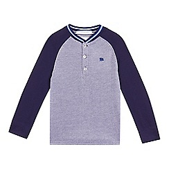 J by Jasper Conran - Boys' blue textured long sleeve top
