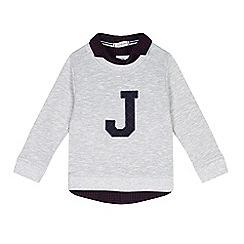J by Jasper Conran - Boys' grey 'J' mock jumper