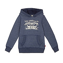 Levi's - Boys' blue logo applique hoodie