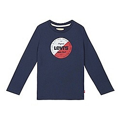 Levi's - Boys' navy logo print top