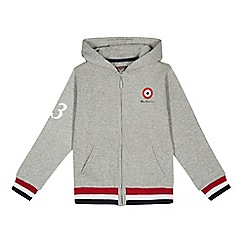 Ben Sherman - Boys' grey target print zip through hoodie