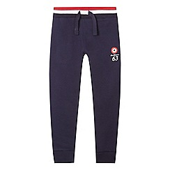 Ben Sherman - Boys' navy target print jogging bottoms