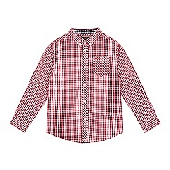 Ben Sherman - Boys' red gingham print shirt