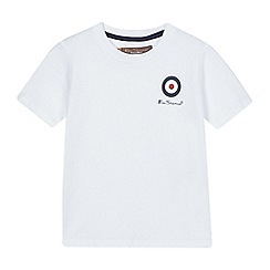 Ben Sherman - Boys' white logo print t-shirt