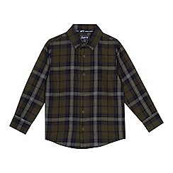 Mantaray - Boys' khaki checked shirt