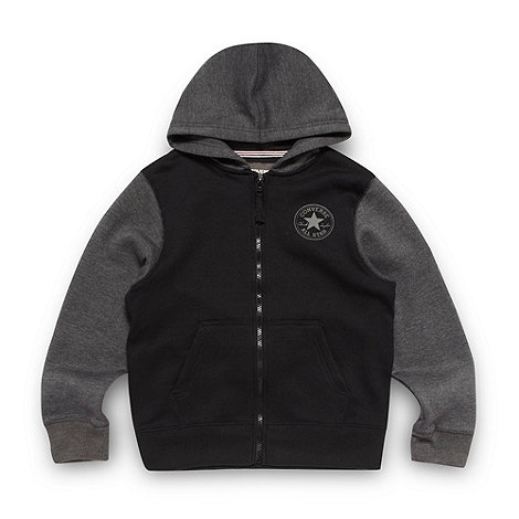 Converse - Boy+s black contrast jacket