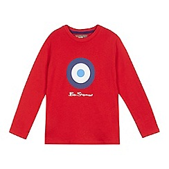 Ben Sherman - Boys' red target print top