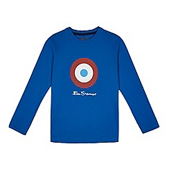 Ben Sherman - Boys' blue target print top