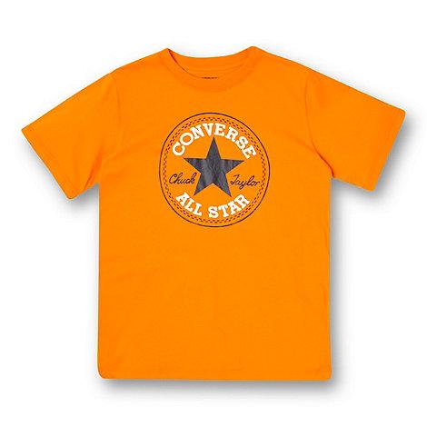 Converse - Boy+s orange logo t-shirt