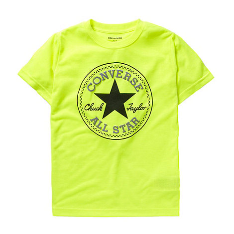 Converse - Boy+s yellow patch logo t-shirt