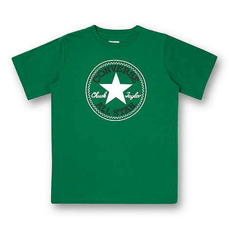 Converse - Boy+s dark green logo t-shirt
