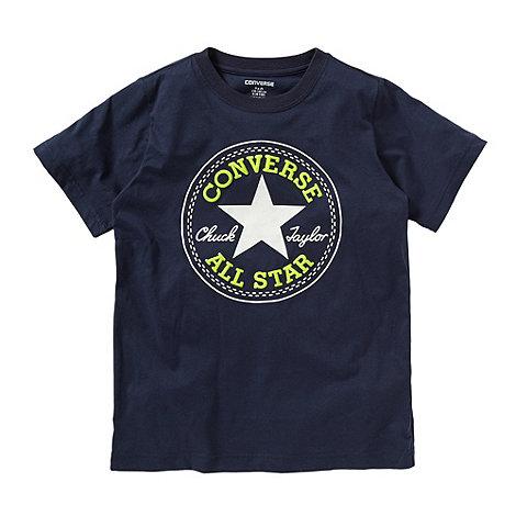 Converse - Boy+s blue patch logo t-shirt
