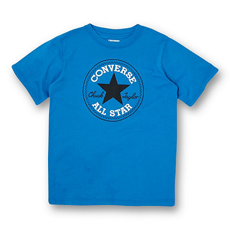 Converse - Boy+s blue logo t-shirt