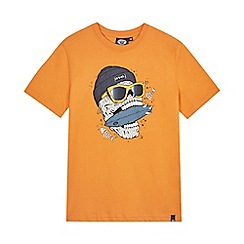 Animal - Boys' orange 'Tomito Skull' print t-shirt