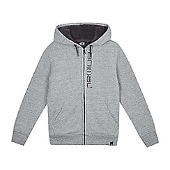 Animal - Boys' grey zip through fleece lined hoodie