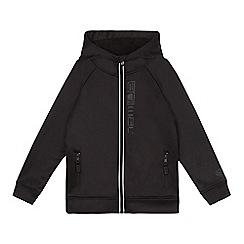 Animal - Boys' black fleece lined hooded jacket
