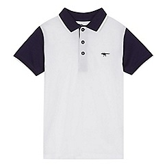 bluezoo - Boys' white colour block polo shirt