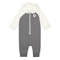 Converse - Baby boys' grey fleece insert all in one