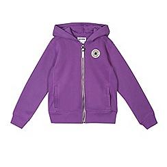 Converse - Girls' purple 'Converse' hoodie